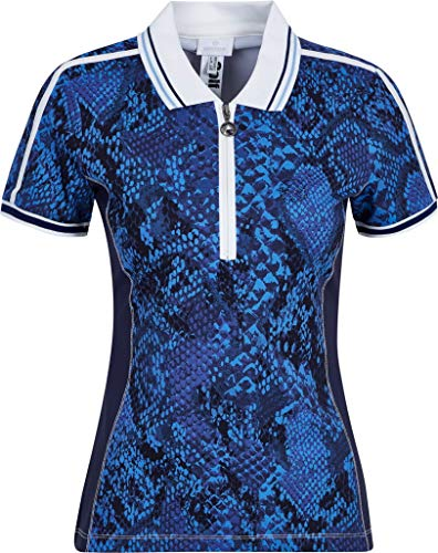 Sportalm Damen Poloshirt Größe 38 EU Blau (blau)