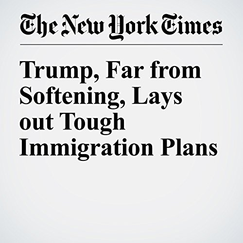 Trump, Far from Softening, Lays out Tough Immigration Plans cover art