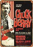 YASMINE HANCOCK Chuck Berry in Portland Blechschild Poster