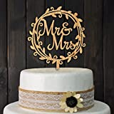 YAMI COCU Mr and Mrs Cake Toppers Rustic Wood Wedding Party Engagement...