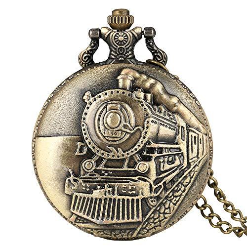 Reloj de bolsillo Relojes de bolsillo Coleccionables Vintage Collectibles Traen Impresión de coches Colgante Reloj de bolsillo Collar de cadena para hombre Flip retro Caja de cuarzo Reloj de hora para