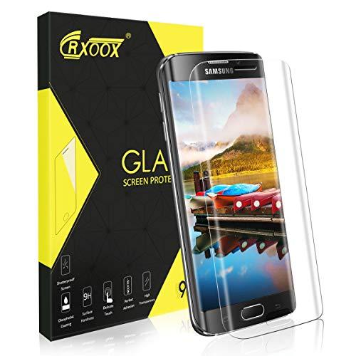 CRXOOX Panzerglas für Samsung Galaxy S6 Edge, [9H Härte] 3D Anti-Kratzen [Blasenfrei] Schutzfolie, Anti-Öl Anti-Bläschen Panzerglasfolie für Samsung Galaxy S6 Edge,[1 Stück]