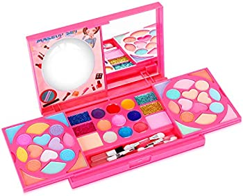 Tomons Washable Cosmetic Pretend Play Toys with Mirror