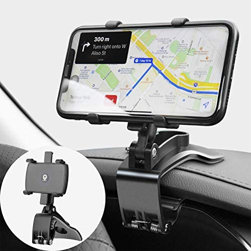 JunDa Car Phone Mount 360 Degree Rotation Dashboard Cell Phone Holder for Car Clip Mount Stand product image