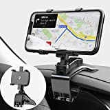 JunDa Car Phone Mount 360 Degree Rotation Dashboard Cell Phone Holder for Car Clip Mount Stand...