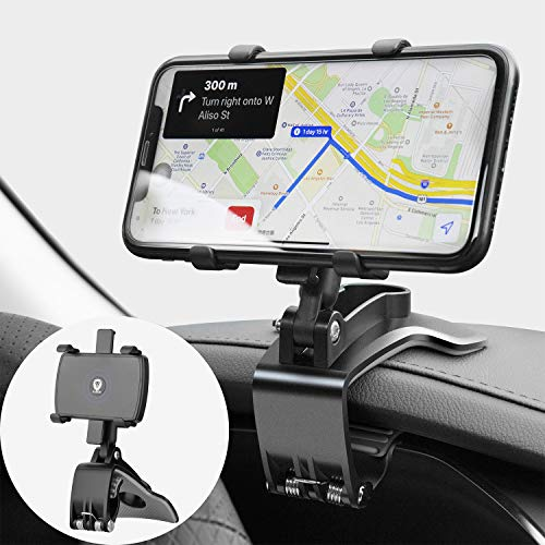 JunDa Car Phone Mount 360 Degree Rotation Dashboard Cell Phone Holder for Car Clip Mount Stand Suitable for 4 to 7 inch Smartphones