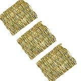 3 Pack Pet Grass Mats,Safe Edible Natural Seagrass Chew Mat Handmade Woven Play Mat Hay Cages Mat Bed Nest for...