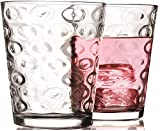Circleware Drinking Glasses Juice Cups Set of 4, 7oz, Circle 4pc