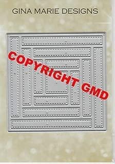 Gina Marie Metal Cutting Paper Craft Die - Quilt # 2