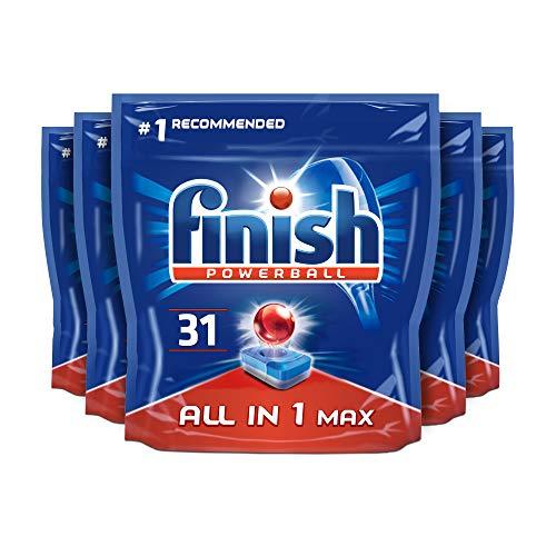 Pastillas para lavavajillas todo en uno con aroma a limón de Finish