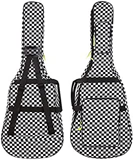 40 41 Inch Acoustic Folk Wood Guitar Gig Bag 600D Oxford Soft Case Cover Water-Resistant Plaid Pattern