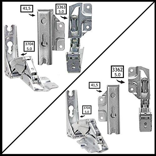 Spares2go Typ 336333625.041,5Hettich Typ Tür Scharnier-Set für integrierte Kühlschrank/Gefrierschränke Lloyds