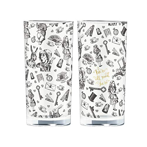 V&A Alice im Wunderland, glas, 330 ml, Set of 2