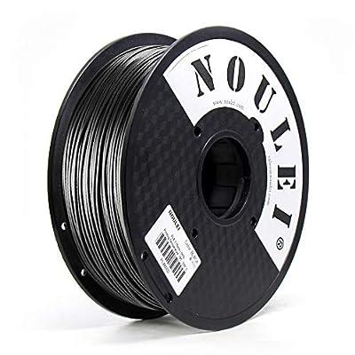 PLA Filament 1.75mm Black, Noulei New 3D Printing Filament PLA for 3D Printer and 3D Pen, 1kg 1 Spool