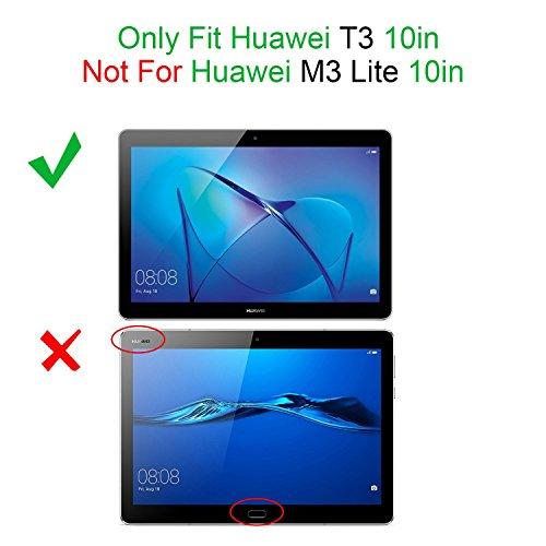 ELTD Huawei MediaPad T3 10 Hülle Case - Ultra Schlank Smart Cover Tasche Schutzhülle Case Für Huawei MediaPad T3 10 mit Standfunktion, Schwarz - 2