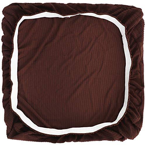 WOVELOT Wingback SchrrG Arm King RüCken Lehne Stuhl Bezug Elastisch Sessel Wing Sofa RüCken Lehne Stuhl Bezug Stretch Schutz Slip Abdeckung Schutz Tiefer Kaffee