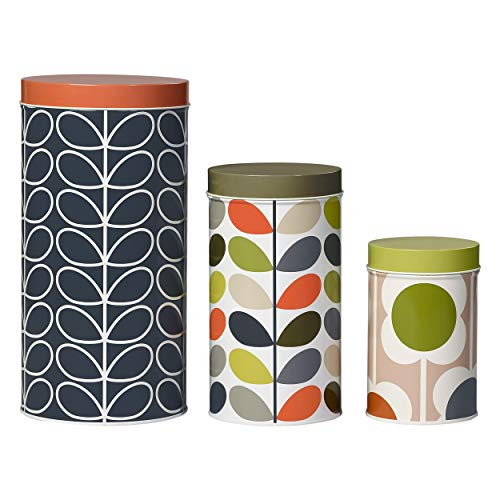 Orla Kiely | Assorted Stem Tins | Three Sizes | Ideal for Storing Food