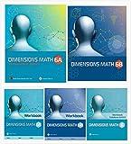 NEW Dimensions Math Grade 6 Books Set (5 Books) - Textbooks 6A & 6B, Workbooks 6A & 6B, Workbook Solutions 6A&B