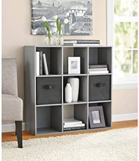 Mainstay 9 Cube Organizer, Multiple Colors | 9-Compartment Storage Cube, Gray Finish (Gray) (Gray)
