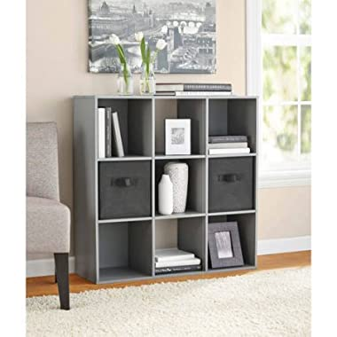 Mainstay* 9 Cube Organizer, Multiple Colors | 9-compartment storage cube, Gray Finish (Gray) (Gray)