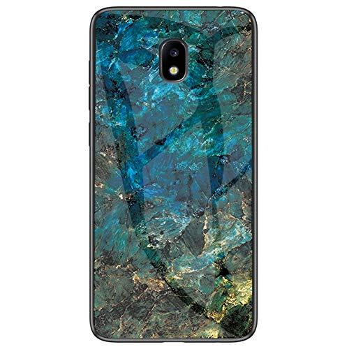 MOONCASE Funda para Galaxy J5 (2017), Ultra Delgado Suave TPU y Moda Pintado Vidrio Resistente al Desgaste Antihuellas Funda para Samsung Galaxy J5 (2017) 5.2' (Esmeralda)