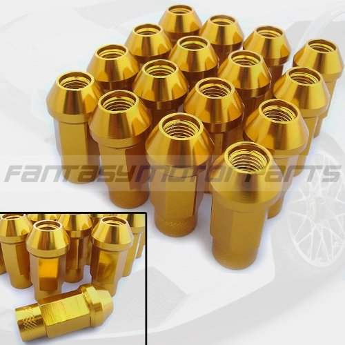 Godspeed All Mitsubishi Aluminum Gold Color JDM 16 Pieces Gold 12x1.5mm LUG NUT Nuts Wheel Nuts NEW