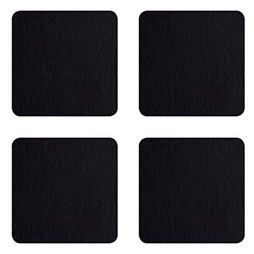 ASA 7835420 Untersetzer - Glasuntersetzer - schwarz - Kunstleder 10 x 10 cm