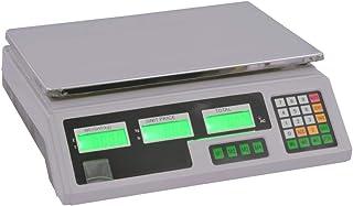 vidaXL Báscula Digital 30kg con Batería Recargable Herramienta Peso Escala