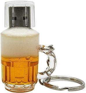 Yghfd Real Capacity Beer Mug USB 2.0 4G 8G 16G Pen Drive 32G Memory Creative USB Flash Drive Gift USB Stick (Capacity : 4GB)