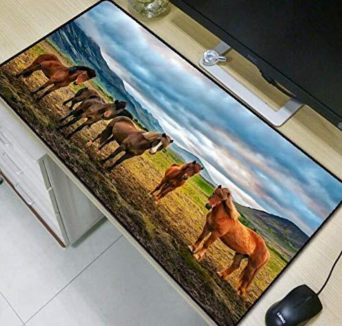 Alfombrillas De Ratón Five Horses Animal Large Gaming Mouse Pad Speed Desk...