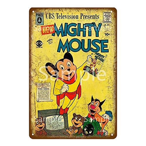 Jinlyp Retro Comic Bunny Mouse Metal Cartel de Chapa Hogar Bar Decoración de Sala de Estar Placa de Metal 20x30cm YD10590L