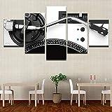 65Tdfc Stampe E Quadri su Tela 5 Pannelli Musica Dj Console Strumento Mixer Poster Modern Home Wall Art Pittura Decorativa Immagini Modulari