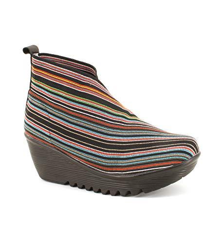 BM Bernie Mev New York Maile Damen-Stiefel, modisch, Keilabsatz, mit Einlegesohle aus Memory-Schaumstoff, absoluter Komfort, mehrfarbig - Multi-Mix - Größe: 41 EU