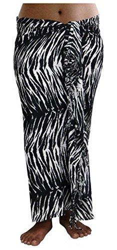 Sarong Sar90 - Toalla de playa, pareo, falda, color blanco y negro