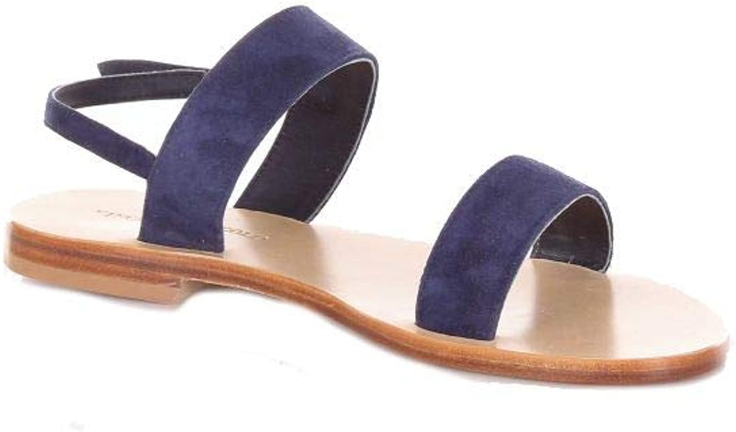 VINCENZO PICCOLO Women's V12CAMOSCIOblueE bluee Suede Sandals