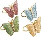 Lenox Butterfly Meadow, Napkin Ring, Blue Flower