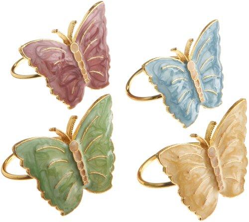 Lenox Butterfly Meadow Napkin Rings, Set of 4, Multi