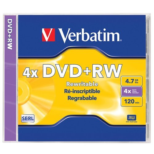 Verbatim DVD+RW 4.7GB 4X Surface - 1pk Jewel Case