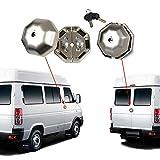 Kairay Cerradura de seguridad para puerta de maletero, puertas laterales, para furgoneta, 2 unidades, con 4 llaves