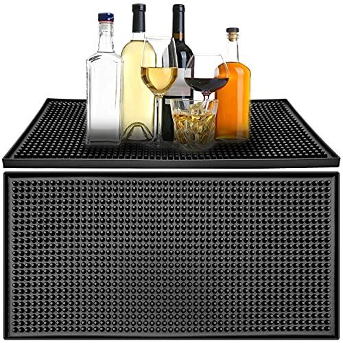 2PCSTappetino da bar in gomma PVC Mantiene asciutto Tappetino da bar resistente al freddo e al calore Proteggi tavolo in vetro ecc.