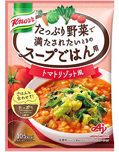 味の素 「クノール たっぷり野菜で満たされたいときのスープごはん用」 トマトリゾット風 29.4g ×6個