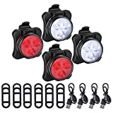 Best Bike Light Usbs - 4PC LED Bike Lights USB Rechargeable Bicycle Lights Review
