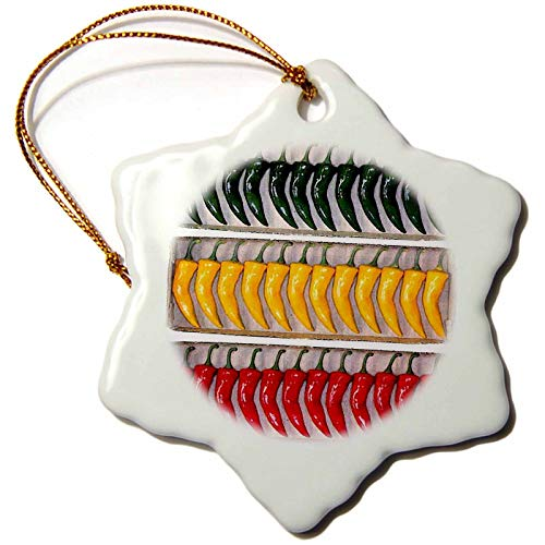 Blake55Albert Chili Pepper Christmas Ornaments Ceramic for Christmas Tree Decoration