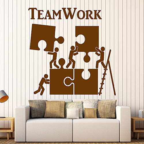 zhuziji Vinyl Wandtattoo Teamwork Motivation Decor Für Büroangestellte Puzzle Wandaufkleber...