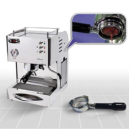 Espressomaschine Quickmilll 04005 Silvano PID Special mit Bodenloser Siebträger und mit standard Siebträger
