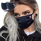 Masque Tissu Lavable - UNS1 - Lot de 2 - Noir - 200 Lavages (2 * 100) - Fabriqué en FRANCE