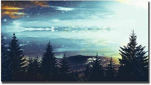 venta con descuento Kit de pintura pintura pintura de diamante 5DCrystal Art Kits punto de cruz bordado de punto de cruz Abstracto, arte, bosque profundo decoración de parojoDecoración suministros para decoración de parojo de salón,100x50  alta calidad