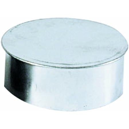 Kamino - Flam – Tapa para tubo de chimeneas, estufas y hornos de leña, Tapa para chimenea – acero con revestimiento de aluminio - Ø 120 mm – resistente a altas temperaturas