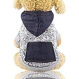 Vêtements pour Animaux, Chien Chat à Capuche vêtements Chiot Pull Chaud à Capuche Chaud Vetement Chien/Chat Manteau A Capuche Chaud Hiver - Habits Chic pour Petit Chien Teddy