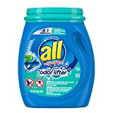 All Mighty Pacs Laundry Detergent 4 In 1 With Odor Lifter, Tub, 60 Count